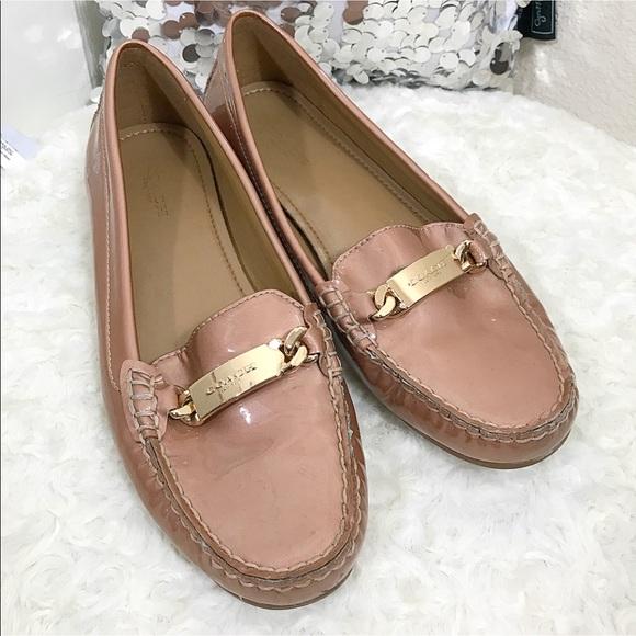 48a25e4ecc8 Coach Shoes -  Coach  8.5 Rose Gold Coach Olive driving loafer